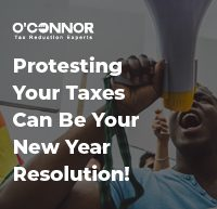 protest-your-taxes-new-year resolution-oconnor